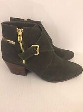 Dolce Vita Women's Green Suede Leather Boots Booties Size 9.5M