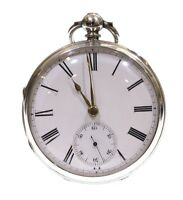 Large Antique Pocket Watch 1875 Silver Fusee Lever. Serviced