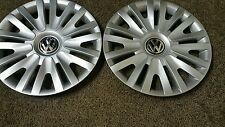 "Pair of 2 61560 10 11 12 13 2014 15"" VW Volkswagen Golf Hubcaps Wheel Covers"