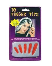 Halloween Unisexe Bout Des Doigts Ongles Vampire Costume Diable Rouge