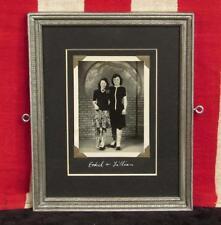 Vintage 1930s Roller Skating Antique Photograph Ethel&Lillian Frame Roller Skate