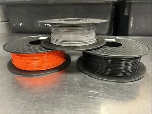 3 Part Spools Of 3D Printing PLA+ Grey Black Orange 1.75mm - No Reserve