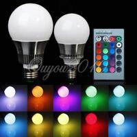 5W/10W E27/E14 RGB LED Color Changing Light Lamp Bulb 85-265V W/ Remote Control