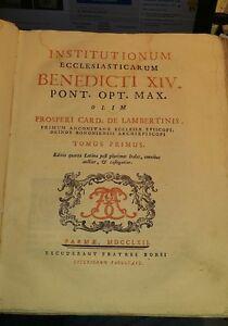 1762-institutionum ecclesiasticarum-benedicti xiv-de lambertinis-parma borsi