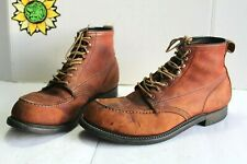 Vintage Mason Shoes Steel Toe Work Men's Boots,Brown Leather USA Made Size 11 E