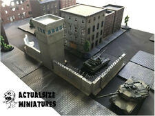 Wargames 15mm Berlin Wall style & Tower set, suited for Team Yankee, 31 pieces
