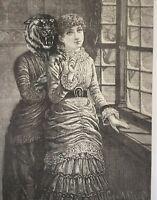 Original antique surrealist collage .. La Sposa wedding Serrano dress Tolli Miri