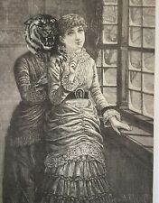 ORIGINAL SURREALIST COLLAGE    Antique La Sposa wedding Serrano dress Tolli Miri