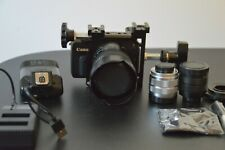CannonEOSM Mirrorless Camera Custom Cage,kit lens,Case,2CCTV lens&adapters,flash