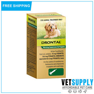 Drontal Allwormer Puppy Worming Suspension 30 mL Full Worm Protection