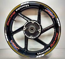 Honda Racing HRC Gold & White 2 Colour Reflective Wheel Rim 025/039