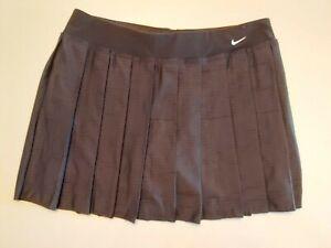 Nike dry fit Damen Tennis Rock mit Slip Schwarz Größe XS
