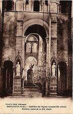 CPA ENNEZAT Interieur de l'eglise romane (408923)
