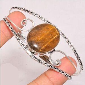 Tiger's EyeGemstone 925 Sterling Silver Bracelet