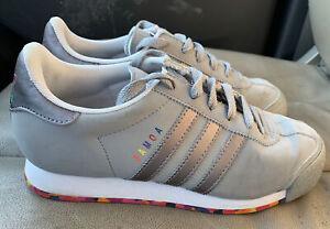 Adidas Samoa Gray w Rainbow Colors Women's Shoes Size 6