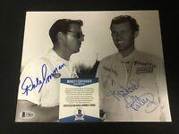 Richard Petty & Dale Inman Dual Signed 8x10 Photo COA Autograph BAS Beckett