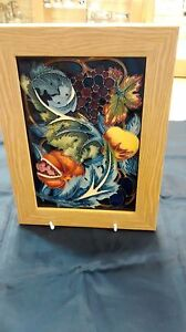 Moorcroft Pottery Brand New : Study In Fruit Plaque Limited Edition 48 of 50