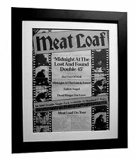 MEAT LOAF+Midnight+TOUR+POSTER+AD+RARE+ORIGINAL 1983+FRAMED+EXPRESS GLOBAL SHIP