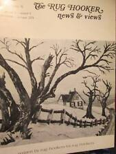 Rug Hooker News & Views Sept/Oct 1978 #36-December Snows/Christmas Cherub/Calla