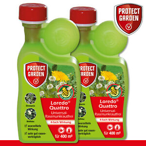 Protect Garden 2 x 400 ml Loredo Quattro Universal-Rasenunkrautfrei Weißklee