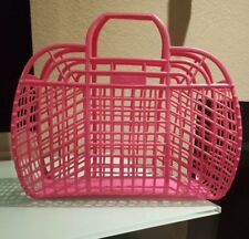 Vintage Retro (1980's) Pink JELLY Bag Tote Made in USA by Berg