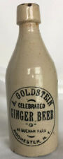 Ginger Beer Bottle A. GOLDSTEIN CELEBRATED Rochester, NY Stoneware Stone Antique