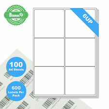 200 Sheets 10 Labels per Page 2000 Labels 99.1x57mm A4 Office Mailing Labels