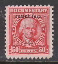 US Scott # R346 50c 1942 Documentary Revenue Stamp USED F/VF PH LC