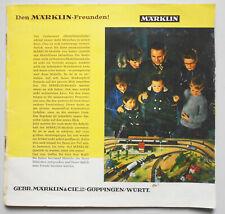 Alter Märklin Katalog um 1950/60 Eisenbahn Dampfmaschine Spielzeug Autos ! (K1