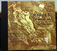 2 LP OTTO KLEMPERER mahler symphony no 2 resurrection VG+ PL 7010 Vox ED1 1951