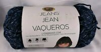 Lion Brand Yarn Jeans Classic Knitting Knit Crochet Worsted Blue Crafts Soft