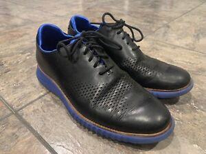 Men's Cole Haan 2.zerogrand Lined Laser Wingtip Oxford Black/Blue Size 9 C23992