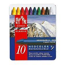 Caran d'Ache Classic Neocolor 2 Water Soluble Pastels 10 Colors Artist Crayons