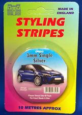 3mm Argento PIN STRIPE coachline Nastro x 10 METRI