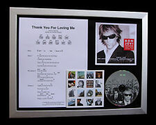 BON JOVI Thank You For Loving Me CD MUSIC FRAMED DISPLAY+EXPRESS GLOBAL SHIPPING