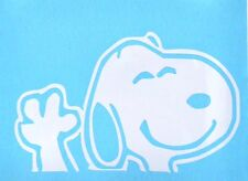 Snoopy Dog Waving Funny **WHITE ONLY** Car Truck Window Vinyl Decal Sticker