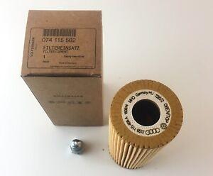 VW Original Oil Filter 074 115 562 Incl. Seals + Oil Drain Screw Audi Seat