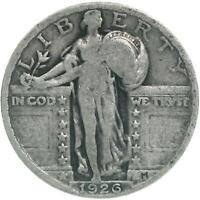 1926 Standing Liberty Quarter 90% Silver Very Good VG