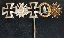 ✚7658✚ German post WW2 1957 pattern miniature pin badge Iron Cross War Merit 1st