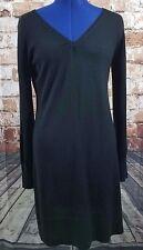 DKNY Silk Cashmere Ling Sleeve Little Black Dress Size M LBD