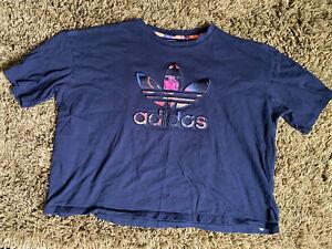 Girls Adidas Navy Oversize Shirt Size Medium