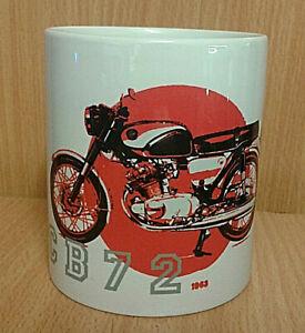 CB72 CLASSIC HONDA BIKE (1963) WHITE GOOD QUALITY MUG - IDEAL GIFT BIKER MOTO GP