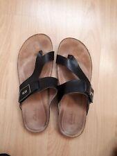 Clarks Sandale Gr. 39 schwarz, Zehensteg