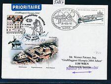 97817) AUA Olympiade So-LP Wien - Athen 13.8.2004, GAU BRD Zudruck GAU