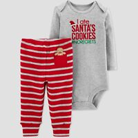 CARTER'S JUST ONE YOU Baby Boys' Santa's Cookies #noregrets 2pc Set Christmas