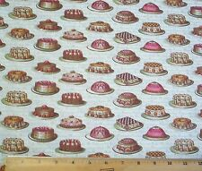Penelope Tea Dainties Cakes Fabric Fat Quarter Cotton Lake House Dry Goods