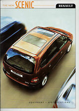 Renault Scenic 1999-2000 UK Market Specification Brochure RT Alize Sport RXE