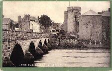 tr irish postcard ireland limerick the old bridge