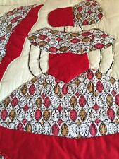 Vintage Quilt Colonial Lady Vibrant Pretty Fabric Variety