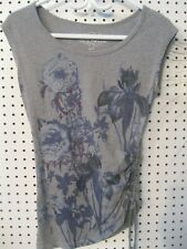 Ricki's Floral Graphic Top XS Gray Free Shipping